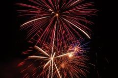 Quarto de fogos-de-artifício de julho Imagem de Stock Royalty Free