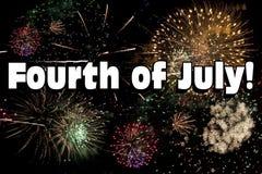 Quarto de fogos-de-artifício de julho Foto de Stock Royalty Free