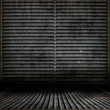 Quarto de Grunge do metal Imagem de Stock