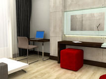 quarto de hotel 3D Fotografia de Stock Royalty Free