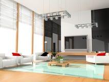 Quarto de hotel moderno Imagens de Stock Royalty Free