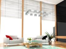 Quarto de hotel moderno Imagem de Stock Royalty Free