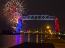 Quarto de julho em Duluth Minnesota Fotos de Stock Royalty Free