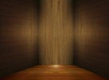 Quarto de madeira vazio ilustração stock