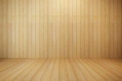 Quarto de madeira vazio Imagens de Stock Royalty Free