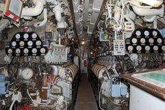 Quarto de motor submarino imagens de stock