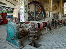 Quarto de motor velho Fotografia de Stock