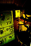 Quarto de rádio submarino fotos de stock
