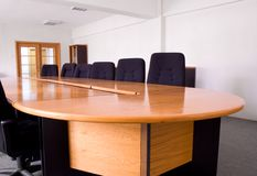 Quarto de reunião corporativa pequeno Fotos de Stock