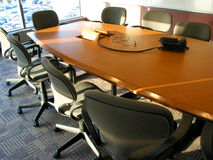 Quarto de reunião do negócio Imagem de Stock