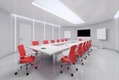 Quarto de reunião moderno ilustração 3D Imagens de Stock Royalty Free