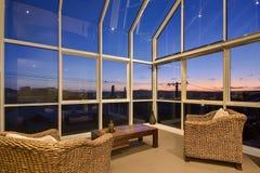 Quarto de sol de vidro interno Imagens de Stock