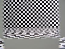 Quarto de teste padrão Checkered Imagem de Stock