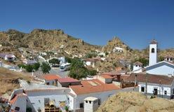 Quarto degli appartamenti delle caverne a Guadix spagna Fotografie Stock Libere da Diritti