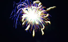 Quarto dei fuochi d'artificio di luglio Fotografie Stock Libere da Diritti