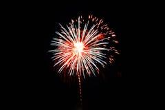 Quarto dei fuochi d'artificio di luglio Immagini Stock Libere da Diritti