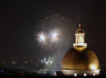 Quarto dei fuochi d'artificio di luglio a Boston 2006 Immagini Stock
