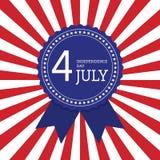Quarto del backgro degli Stati Uniti d'America di festa dell'indipendenza di luglio Fotografie Stock Libere da Diritti