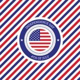 Quarto del backgro degli Stati Uniti d'America di festa dell'indipendenza di luglio Fotografia Stock Libera da Diritti