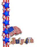 quarto del bordo patriottico di luglio Fotografia Stock Libera da Diritti