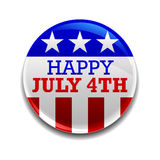quarto del distintivo di luglio Fotografia Stock Libera da Diritti