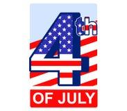 Quarto del distintivo di luglio royalty illustrazione gratis