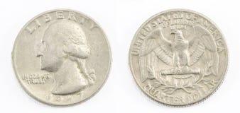 Quarto del dollaro Fotografia Stock Libera da Diritti