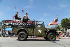 quarto del Huntington Beach CA U.S.A. di parata di luglio Immagine Stock Libera da Diritti