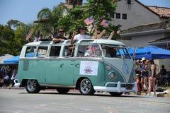 quarto del Huntington Beach CA U.S.A. di parata di luglio Fotografia Stock Libera da Diritti