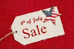 quarto del messaggio di vendita di luglio Fotografia Stock