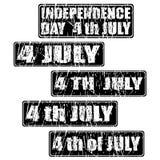 quarto del timbro di gomma di celebrazione di luglio Immagine Stock