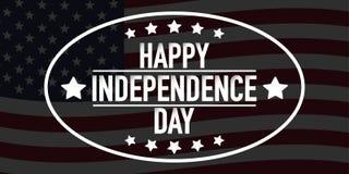 quarto del vettore dell'insegna di festa dell'indipendenza di luglio illustrazione vettoriale