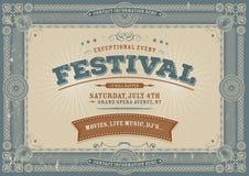 Quarto dell'annata del fondo di festival di luglio Immagini Stock Libere da Diritti
