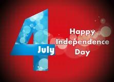 quarto dell'illustrazione di luglio, celebrazione americana di festa dell'indipendenza Immagine Stock