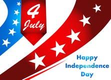 quarto dell'illustrazione di luglio, celebrazione americana di festa dell'indipendenza Fotografie Stock