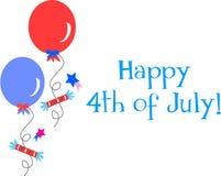 Quarto della celebrazione di luglio illustrazione vettoriale