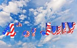 quarto della festa dell'indipendenza dell'americano di luglio Immagini Stock