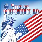 quarto della festa dell'indipendenza di luglio Fotografia Stock Libera da Diritti