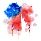 Quarto della festa dell'indipendenza felice America di luglio Fotografia Stock