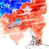 Quarto della festa dell'indipendenza felice America di luglio Immagine Stock