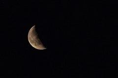 Quarto della luna e delle stelle Fotografie Stock Libere da Diritti