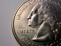 Quarto della moneta degli S.U.A. Fotografie Stock Libere da Diritti