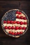 quarto della torta di concetto di luglio Fotografie Stock
