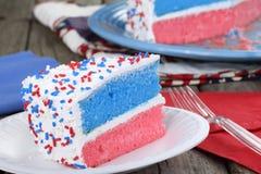 Quarto della torta di luglio fotografia stock