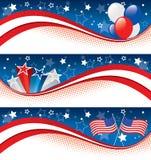 Quarto delle bandiere di luglio Immagini Stock Libere da Diritti