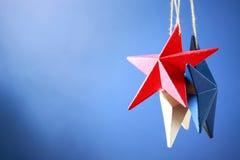 quarto delle decorazioni americane di festa dell'indipendenza di luglio Fotografia Stock