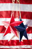 quarto delle decorazioni americane di festa dell'indipendenza di luglio Immagini Stock
