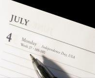 Quarto di luglio Fotografia Stock