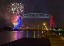 Quarto di luglio a Duluth Minnesota immagini stock libere da diritti