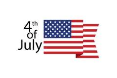 Quarto di luglio festa dell'indipendenza Modello della cartolina d'auguri U.S.A. Immagine Stock Libera da Diritti